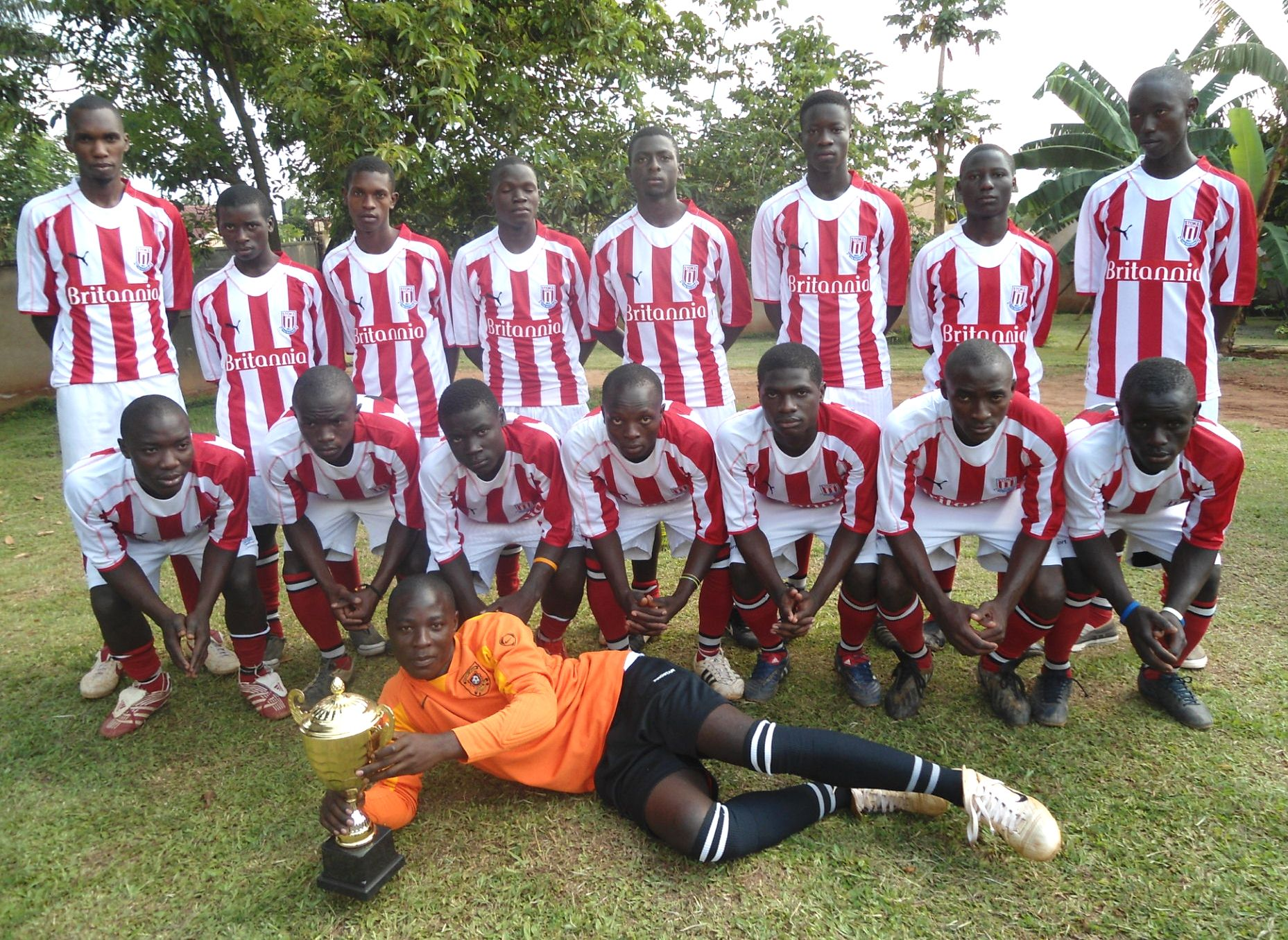 Stoke City shirts finding a good use in Uganda